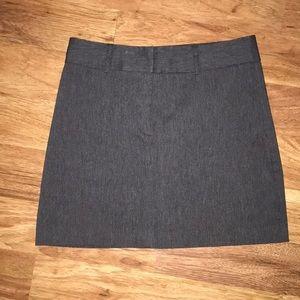 Grey A-line Express skirt